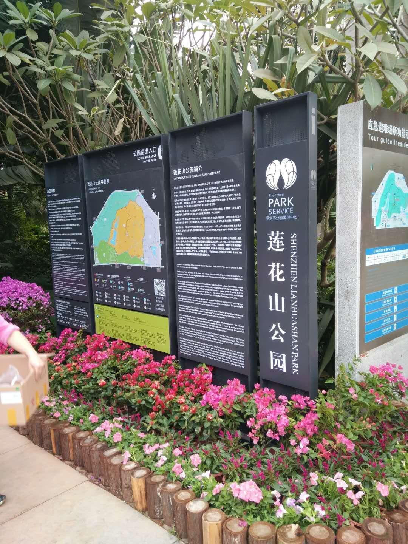 莲花山公园标识标牌整套